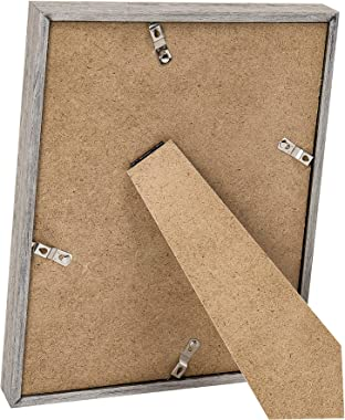 upsimples 8x10 Picture Frames with High Definition Glass,Display Pictures 5x7 with Mat or 8x10 Without Mat,Rustic Photo Frame