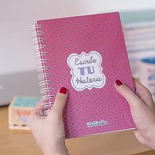 La Mente es Maravillosa - Cuaderno A5 (Escribe tu historia) Regalo para amiga con dibujos (Diseño Historia)