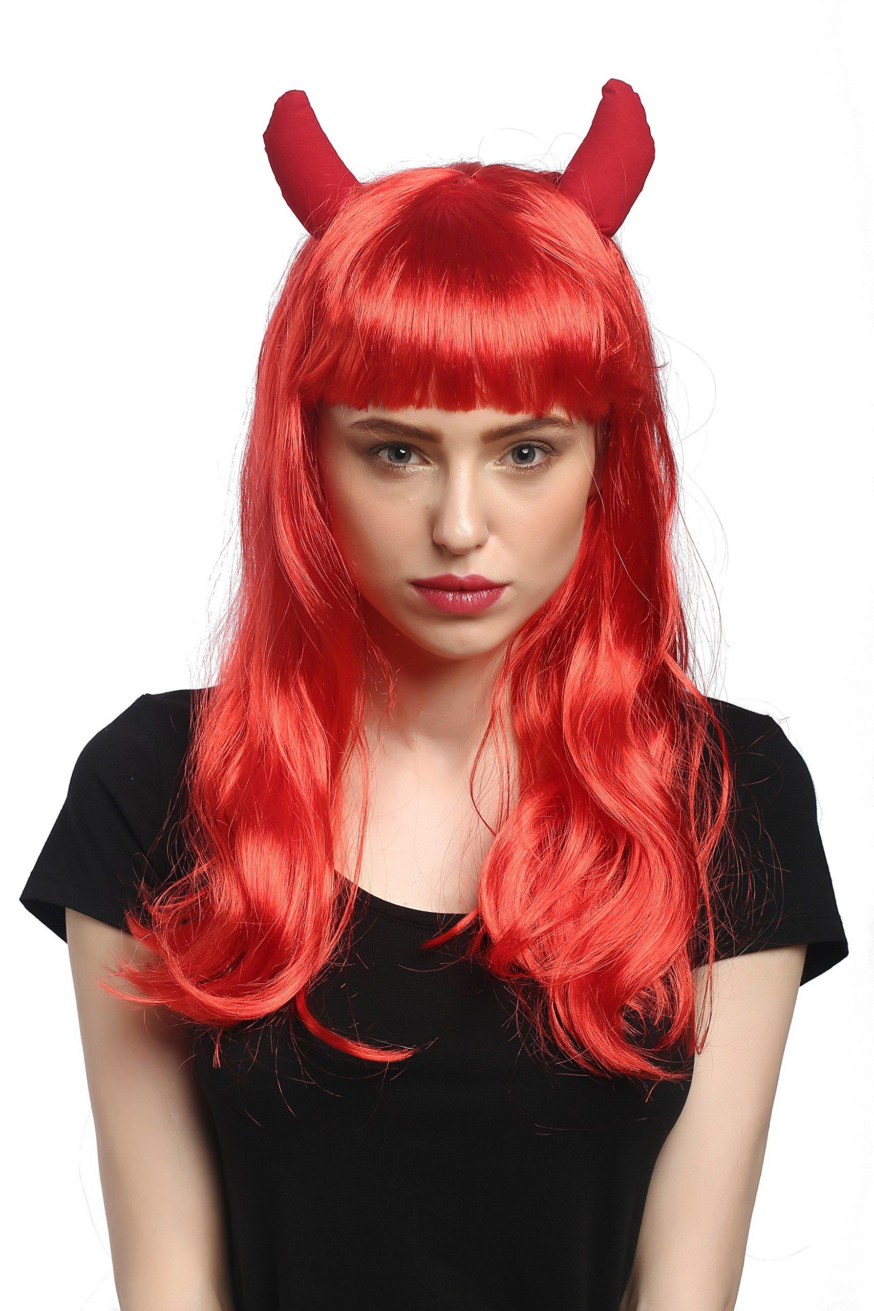 WIG ME UP ® - 90897-ZA13 Peluca Mujeres Carnaval Halloweenlargo ...