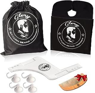 Beard Shaping Tool Premium Kit For Men, beard shaper Transparent & black apron bib + beard comb with waterproof designed bath bag ,free-beard brush comb,gift set