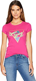GUESS Women's Short Sleeve Vintage Beach T-Shirt