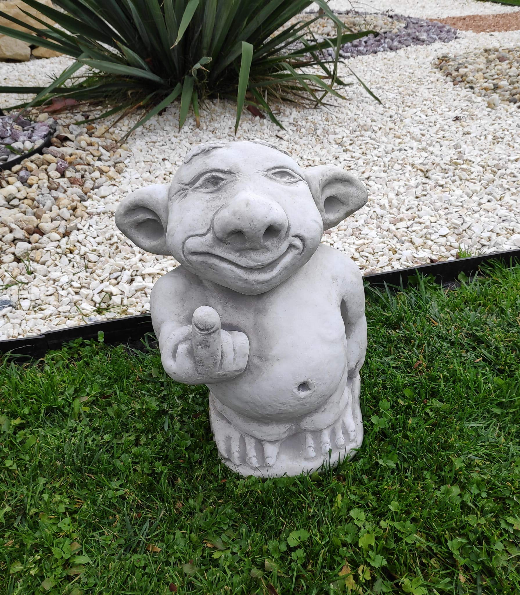 Troll gracioso estatua del jardín