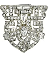 Kenneth Jay Lane - Silver and Crystal Deco Pin