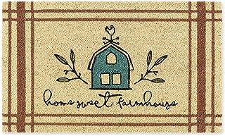 "DII Natural Coir Doormat, Home Sweet Home Mat, Home Sweet Farmhouse, 18x30"""