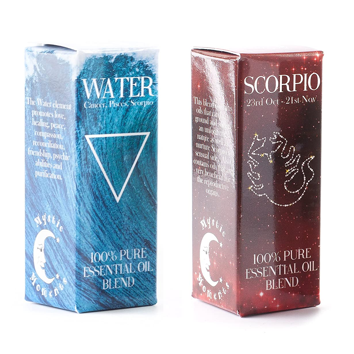 削減変数アテンダントMystic Moments | Water Element & Scorpio Zodiac Sign Astrology Essential Oil Blend Twin Pack (2x10ml)