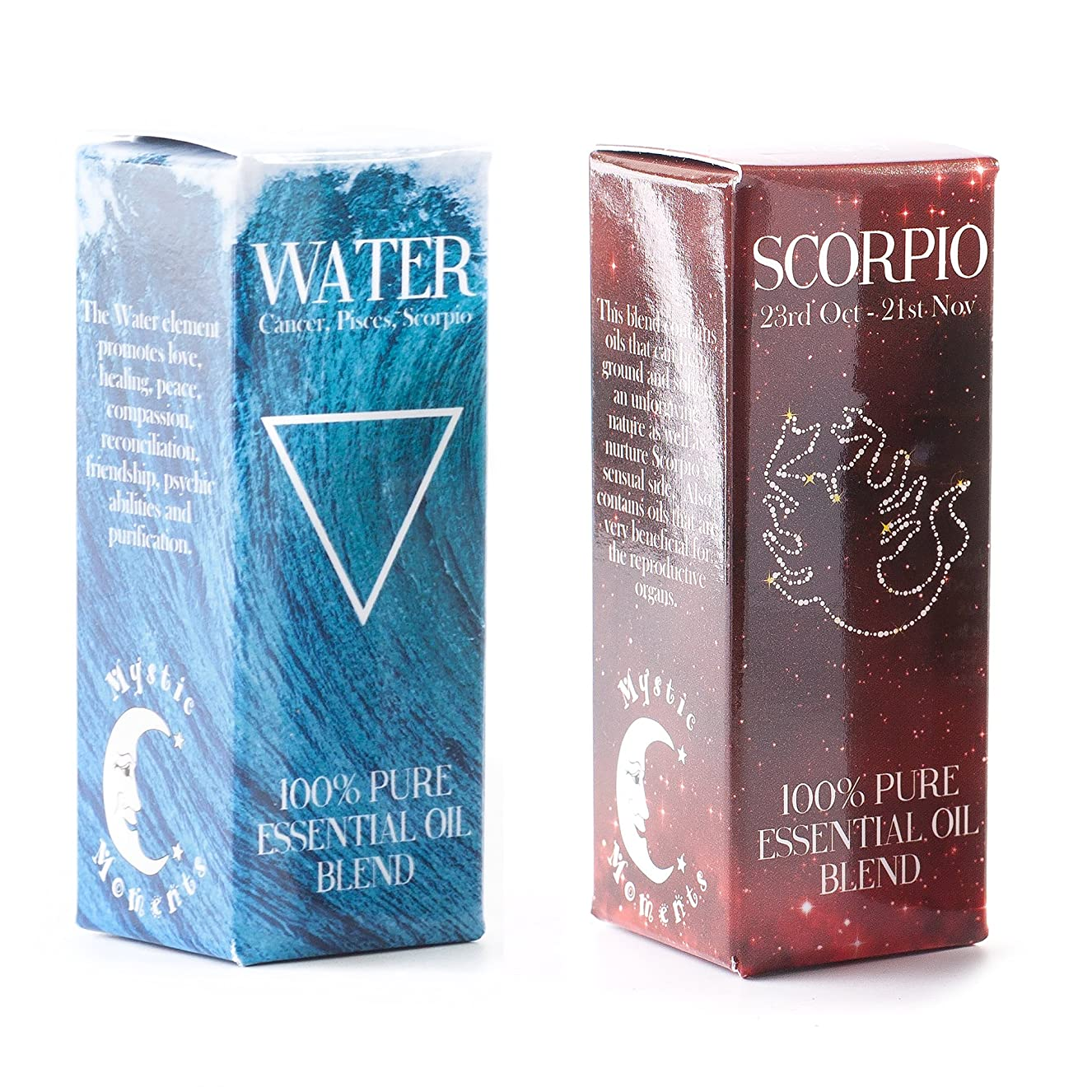 ピクニックをするそう独裁者Mystic Moments | Water Element & Scorpio Zodiac Sign Astrology Essential Oil Blend Twin Pack (2x10ml)