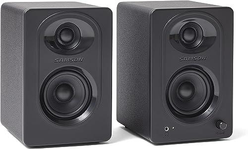 "2021 Samson MediaOne M30 sale 3"" Powered Studio Monitors, new arrival Black, 3-Inch outlet sale"