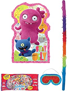 Party City Giant UglyDolls Pinata Supplies, Include a Large Pinata, a Pinata Stick, a Blindfold, and 4 Pounds of Candy