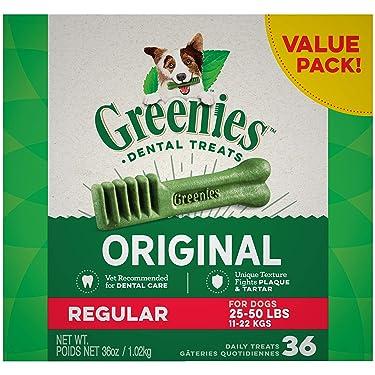Greenies Original Regular Natural Dental Dog Treats (25 - 50 libras)