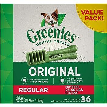 Greenies Original Regular Natural Dental Dog Treats (25 - 50lb. dogs)