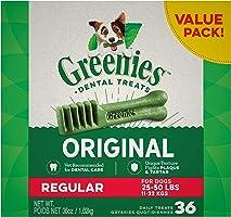 Greenies Original Regular Dental Dog Treat, 1kg (36 treats), Adult, Small/Medium/Large