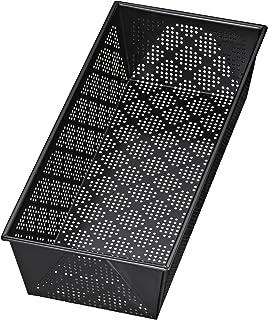 Kaiser 2300651330 Moule à pain perforé, Acier Inoxydable, Noir, 35 x 18 x 9 cm