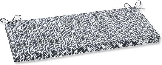 Pillow Perfect Outdoor | Indoor Herringbone Slate Bench Cushion