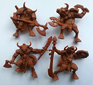 Minotaurs 54 mm 1/32 - 4 Fantasy Figures Tehnolog Fantasy Battles Russian Toy Soldiers