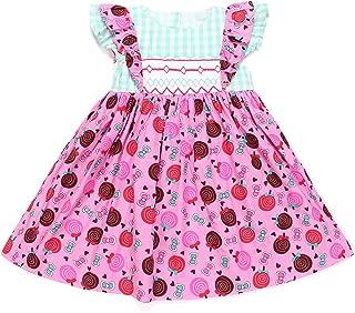 Baby Girls Geometric Smocked Dress Lollipop