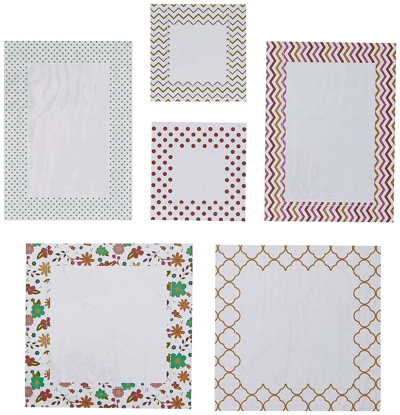 Hazel & Ruby HRPP-386 Pic Pockets Die-Cut Cardstock Embellishment on Trend, 6-Pack