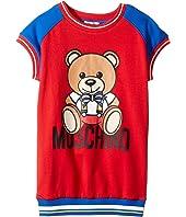 Moschino Kids - Short Sleeve Color Block Graphic Dress (Little Kids/Big Kids)