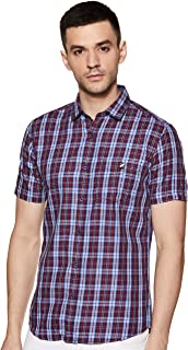 Amazon Brand - House & Shields Men's Checkered Regular Casual Shirt