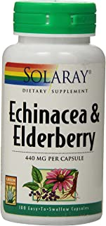 Solaray Echinacea and Elderberry Capsules, 440 mg   100 Count
