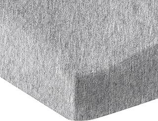 AmazonBasics Heather Cotton Jersey Fitted Baby Crib Sheet - Light Grey