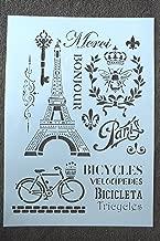 Boutique d'isacrea Plantilla Plástico de Vinilo, Formato A4, diseño Love Paris