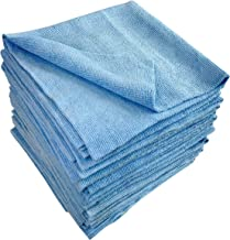 Edgeless Microfiber Cleaning Towel - 16 Pack - Auto Detailing - Window - Mirror - Glass Cleaning Towels - 310 GSM - Sonic Cut Streak Free Polishing and Drying - 16