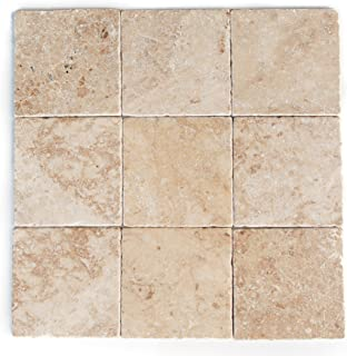 Cappuccino Marble 4 X 4 Square Tiles, Tumbled (Sample)