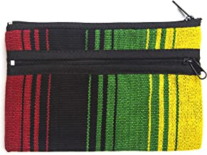 Three Zipper Coin Purse - Handmade in Guatemala (Patterns And Colors May Vary Slightly)