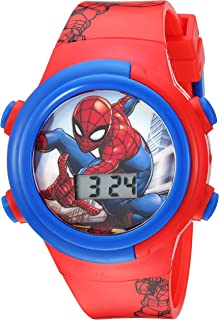 Marvel Boys' Quartz Watch with Plastic Strap, red, 16.5...