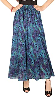 COTTON BREEZE Women's Cotton Long Skirt