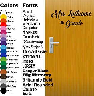 Back to School, Custom Teacher Name, Teacher Decal, Classroom Decor, Vinyl Wall Decal, Classroom Wall Decal, Teacher Door, Come in Decal