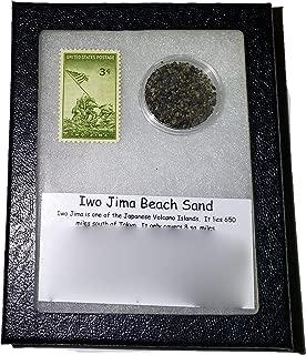 StarStuff.Rocks Iwo Jima Beach Sand and Postage Stamp - Commemorative Collection
