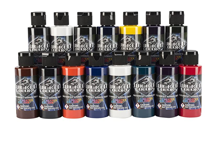 Wicked Colors W112-00 2-Ounce Dru Blair Airbrush Set