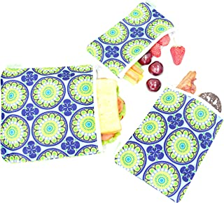 Wegreeco Reusable Snack Bags, (Set of 3) - Funky Flower