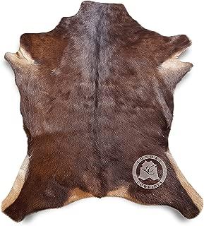 Sunshine Cowhides New Large GOATSKIN RUG GOAT SKIN GOAT HIDE GOAT Skin Rug Exotic 3´x 3´ Top Quality