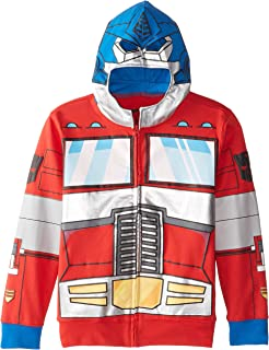 Big Boys' Optimus Prime Character Hoodie, Reds, Small