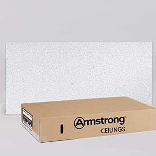 Armstrong Ceiling Tiles; 2x4 Ceiling Tiles – HUMIGUARD Plus Acoustic Ceilings for Suspended Ceiling Grid; Drop Ceiling Tiles Direct from the Manufacturer; FINE FISSURED Item 1729 – 12 pc Layin White