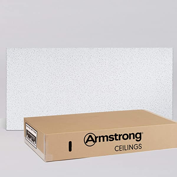 Armstrong Ceiling Tiles 2x4 Ceiling Tiles HUMIGUARD Plus Acoustic Ceilings For Suspended Ceiling Grid Drop Ceiling Tiles Direct From The Manufacturer FINE FISSURED Item 1729 12 Pc Layin White