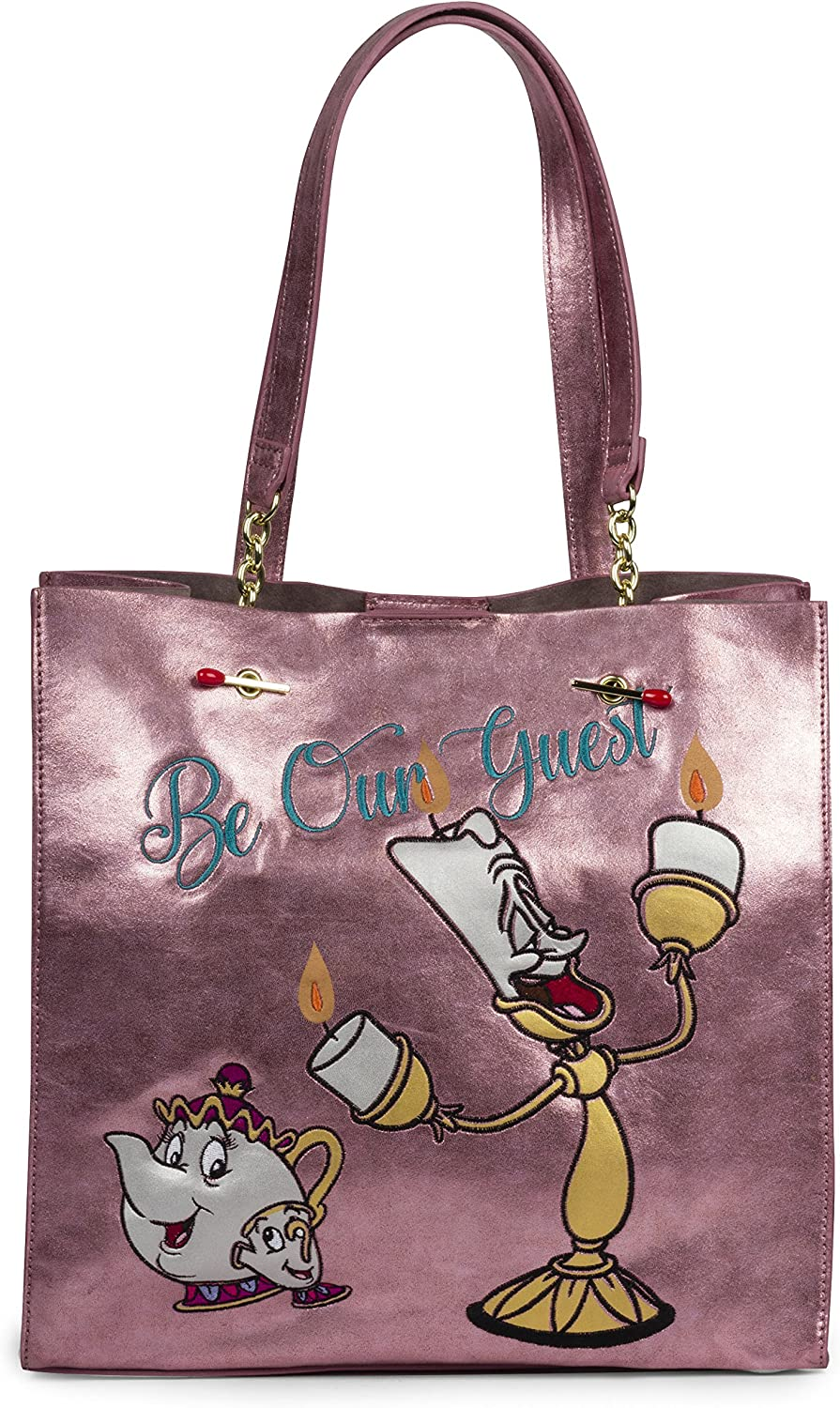 Danielle Nicole Disney Purple Be Our Guest Beauty and Beast Tote for Women