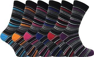 6 pares hombre vestir fantasia rayas modernos algodon calcetines