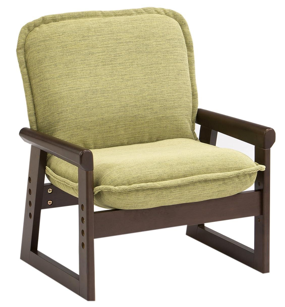 回転させる誠実刺激するSelect chair hidamari (セレクトチェア ひだまり) ブラウニー グリーン Sサイズ 木肘ブラウン