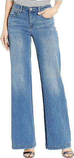Wide Leg Trouser Jeans in Brickell