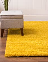 Super Area Rugs Solid Cozy Shag Rug for Home Decor 5' x 8', Yellow