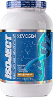 Evogen Isoject | Premium Whey Isolate w/Ignitor Enzymes | Mocha Evoccino | 28 Servings