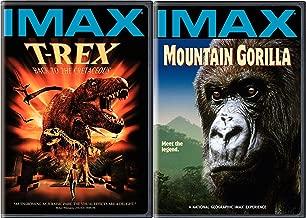 IMAX Mountain Gorilla Legend + T-Rex Back to Cretaceous Explore & Experience the Wonders DVD Bundle 2 Pack