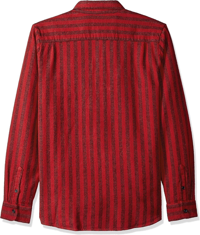 Volcom Mens Shader Modern Fit Woven Long Sleeve Button Up Shirt