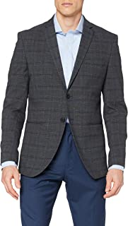 Selected Men's Slhslim-cellogan Grey Check BLZ B Noos Blazer
