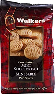 Walkers Pure Butter Mini Shortbread Rounds, 125 grams