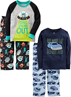 Simple Joys by Carter's Infant-and-Toddler-Pajama-Sets, Racer Cars/Space, 5T