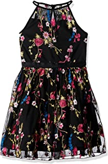 fuchsia and black flower girl dresses